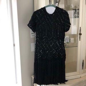 A.J. Bari black party dress with beading